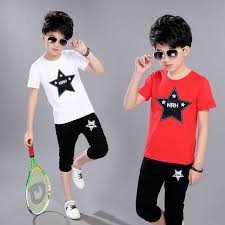 2019 <b>Summer New</b> Boy Clothing Letter <b>Print</b> Short-Sleeved T-Shirt ...