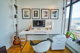 modern home office design white office furniture light bright and airy contemporary bright home office design