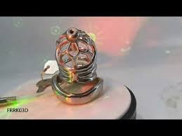 FRRK03D metal <b>chastity</b> device with catheter for <b>male</b> - YouTube