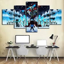 Undertale Game <b>5 Piece</b> Home Painting Decorative <b>HD Print</b> Wall ...