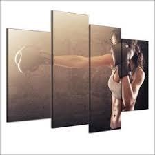 <b>HD Printed 4 Piece</b> Canvas Art Fitness Sexy HD Gym Bodybuilding ...