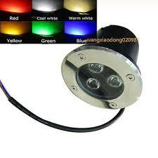 12V <b>3W LED</b> Bulb <b>Spot Flood</b> Light <b>Outdoor</b> In-ground Garden Lamp ...