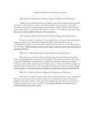 samples of descriptive essay   our work of writing alongside descriptive paper examples of paragraph school
