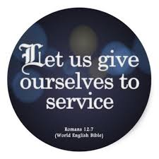 Bible Verses About Helping Others   Give Yourself to Service Romans      Round Sticker Pinterest