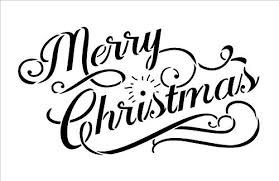 <b>Merry</b> Christmas Stencil by StudioR12 | Elegant Vintage <b>Word Art</b> ...