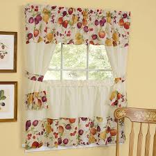 Kitchen Curtains At Walmart Beautiful Olive Better Homes And Gardens Linen Leaf 3 Piece