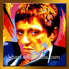 <b>Pop handmade modern</b> abstract godfather colorful figure oil painting