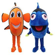 Dory Nemo Fish <b>mascot costume</b> cosplay theme <b>mascotte</b> carnival ...