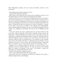 cover letter samples for job applications hospitality industry cover letter sample hospitality cover letter samples