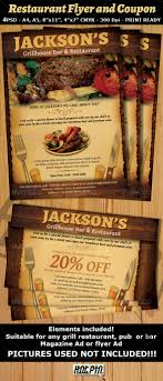 restaurant bar magazine ad or flyer template v fonts gourmet restaurant bar magazine ad or flyer template and coupon is a modern and attractive psd