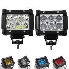 <b>2pcs</b> 4inch <b>18W</b> Led Work Light 12V 24 Driving Lamp 4D 5D Lens ...