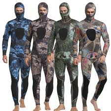 <b>New Neoprene</b> 3mm Camouflage One piece <b>Diving</b> Suit Surf Suit ...