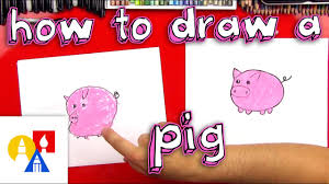 How To Draw A <b>Pig</b> For Young Artists - YouTube