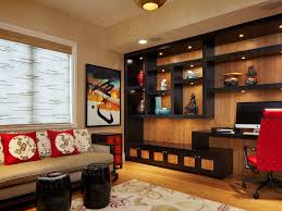 arnold schulman mid sized asian home office idea in miami with medium tone hardwood floors a amish built home office