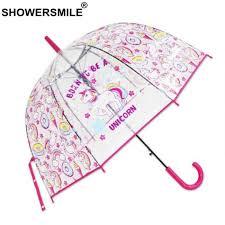 <b>SHOWERSMILE</b> Unicorn Women <b>Umbrella</b> Rain <b>Transparent</b> Plastic ...