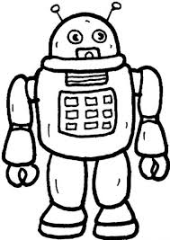 Small Picture Download Coloring Pages Robot Coloring Pages Rob The Robot