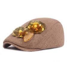 <b>Siloqin</b> national <b>hat</b> women's beret <b>adjustable size</b> hats flower ...