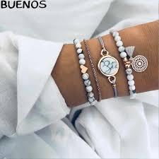 BUENOS <b>2019 New Fashion</b> Punk Simple Gold Silver Mental Color ...