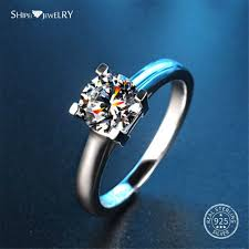 <b>Shipei 100</b>% <b>925 Sterling</b> Silver Fine Jewelry 8mm White Sapphire ...