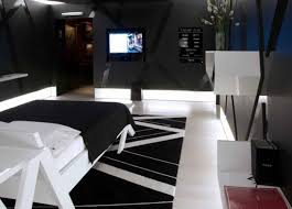 elegant cool ideas for a room with mesmerizing black wall in the and white wooden single bedroom bedroomamazing bedroom awesome black