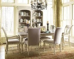 Kincaid Dining Room Sets 7 Piece Dining Set With Canterbury Table And Upholstered Chairs By