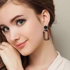 <b>Hot Selling</b> Fashion Earrings For Women White Black Color <b>Stone</b> ...