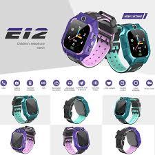 <b>E12</b> Children <b>Smart Watch</b> LBS Position Magnet Charger SOS Call ...