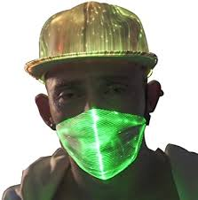 AIGO2C <b>LED</b> Dust <b>Mask</b> 7 Glow Color <b>Rave Masks</b>, Light Up Party ...