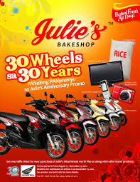 julie s 30 wheels for 30 years promo cebu bloggers society inc media inquiries