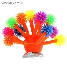 <b>Декоративный коралл для аквариума</b>, 10 х 7 см, микс цветов ...