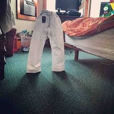 I think I may have added a tad too much starch to my son's pants ... via Relatably.com