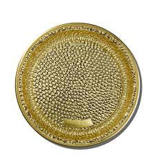 Premium Plastic <b>Gold</b> Hammered Chargers/Small Platters, <b>8pcs</b>