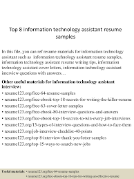topinformationtechnologyassistantresumesamples lva app thumbnail jpg cb