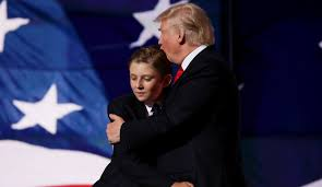 Image result for trump and barron