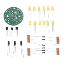 New <b>3pcs DIY Yellow LED</b> Round Flash Electronic Production Kit ...