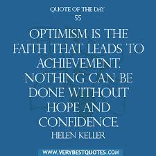 Motivational Quote Of The Day: Optimism is the faith ... via Relatably.com