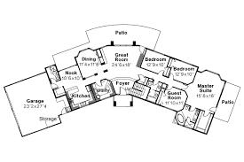 Southwest House Plans   Estefan     Associated DesignsSouthwest House Plan   Estefan     st Floor Plan