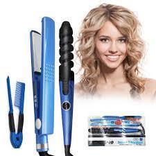 Tourmaline Ceramic <b>Hair Curler</b> And <b>Straightener</b> Rapid Heating ...