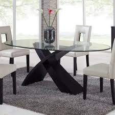 dining table interior design kitchen: global furniture exclaim oval glass dining table modern dining tables by hayneedle