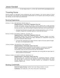 resume examples  example nursing resume resume samples  resume    example resume for traveling nurse   nursing experience and credentials