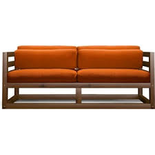 <b>Диван Anderson Магнус Мини</b> орех-оранжевый вельвет купить по ...