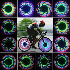 32 Pattern LED <b>Colorful Bicycle</b> Wheel Tire Spoke Signal <b>Light</b> For ...