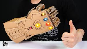 DIY <b>Thanos Infinity Gauntlet</b>(<b>Avengers</b>) from Cardboard - YouTube