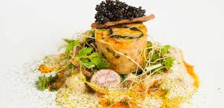 Ballotine of <b>Rabbit</b> with Champagne Veloute and Sturgeon Caviar