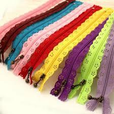 25cm random color <b>10pcs</b>/lot zippers <b>lace</b> nylon finish zipper for ...