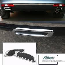 <b>2 Pcs</b> DIY <b>Car Styling ABS</b> chrome rear bumper decoration exhaust ...