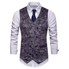 <b>2019 MoneRffi 2019 New</b> Mens <b>Fashion</b> Leopard Printed Waistcoat ...