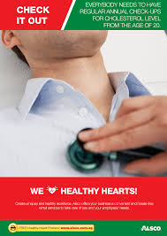 workplace heart health posters workplace ables alsco monitor your health regular check up