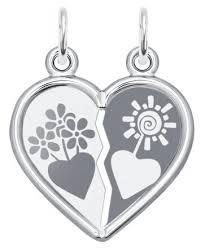 SOKOLOV <b>Серебряная подвеска</b> из двух половин сердца 94100019