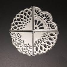 4PCS Corner Lace <b>DIY</b> Metal <b>Carbon Steel</b> Cutting Knife Die ...